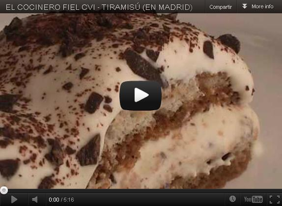 Video Receta: Tiramisú clásico