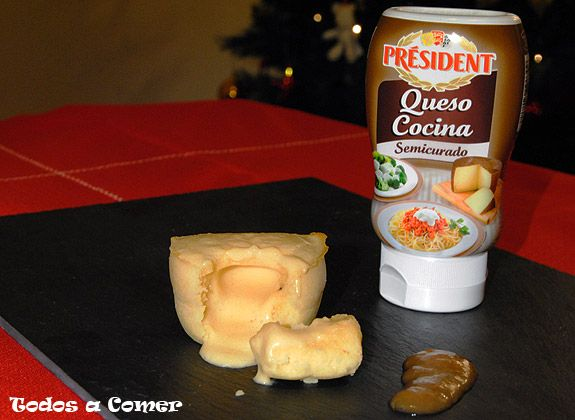 Receta: Coulant de queso, con queso cocina Prsident