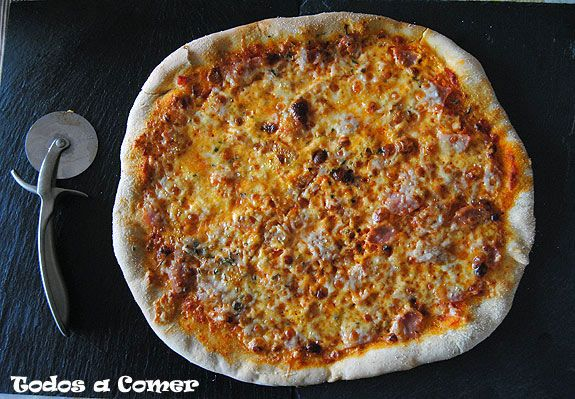 Receta de pizza carbonara