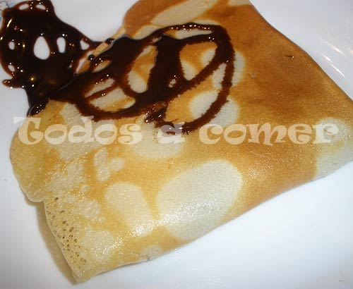Receta de crepes rellenos de chocolate