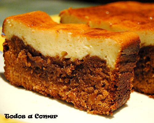 Receta de brownie de chocolate y queso