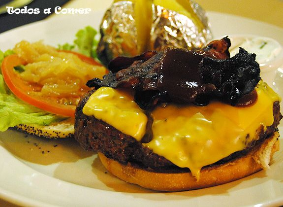 Restaurante: New York Burger, en Madrid. Hamburguesa Queens