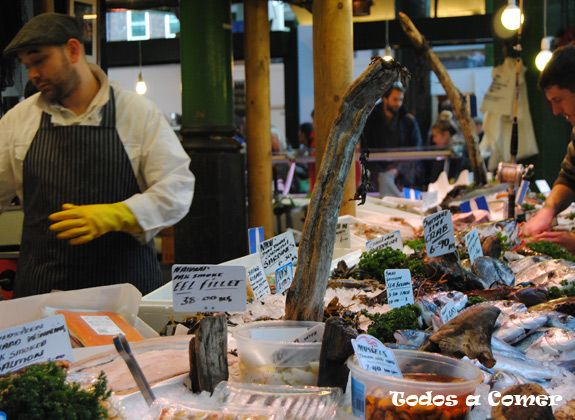 Borough market: pescadería