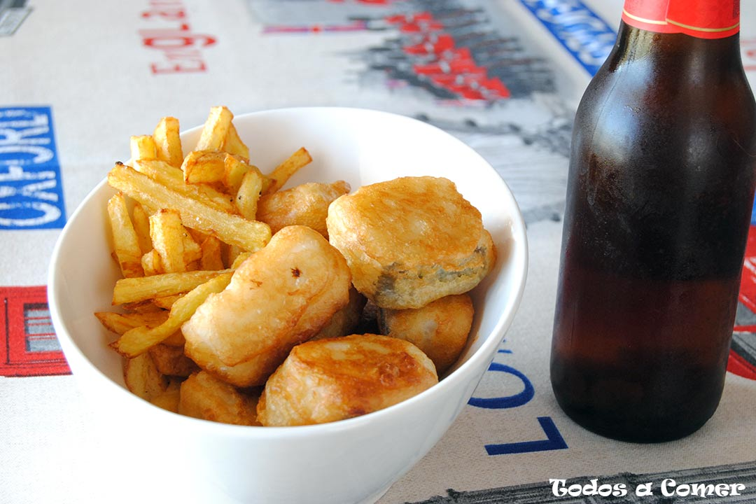 Fish and chips de Jaimie Oliver